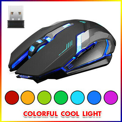 AU13.99 • Buy LED Wired Wireless Gaming Mouse USB Ergonomic Optical For PC Laptop Rechargeable
