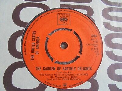 £23 • Buy The United States Of America - The Garden Of Earthly Delights 1968 UK 45 CBS