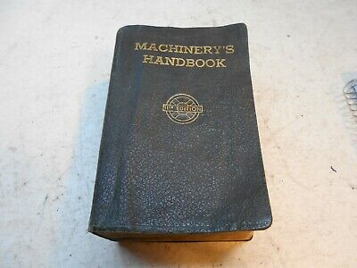 $29 • Buy Vintage Machinery,s Hand Book 11TH Edition Machinist Hand Book