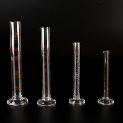 £5.31 • Buy Graduated Glass Measuring Cylinder Chemistry Laboratory Measure S Pw