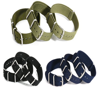 $2.15 • Buy Mens Nylon Canvas Sport Watch Band Strap Infantry Military Army 18- 20mm