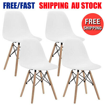 AU83.61 • Buy 2/4 Dining Chairs Kitchen Cafe Seat Home Office Living Room Wood Leg White Black