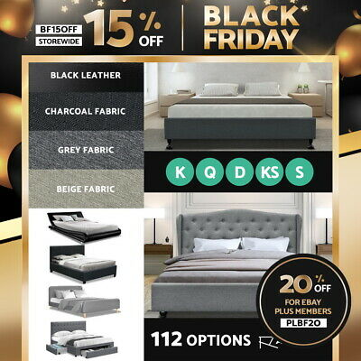 AU199.95 • Buy Artiss Bed Frame Queen Double King Single Full Size Base Mattress Fabric Leather
