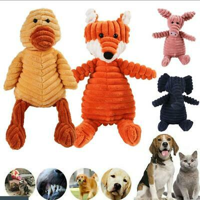 £5.98 • Buy Pet Dog Puppy Chew Toy Squeaker Squeaky Soft Plush Play Sound Teeth Toys Gift UK