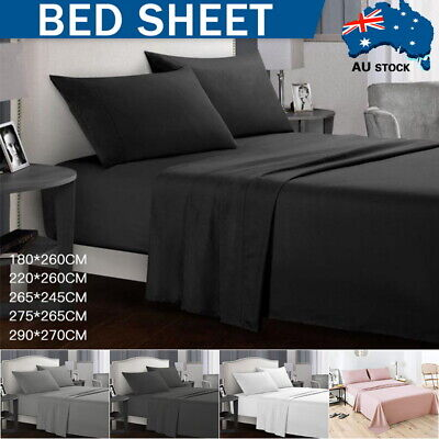 AU28.59 • Buy 2000TC Single/Double/Queen/King/SK 4 Piece Bed Sheet Set,Flat,Fitted,Pillowcases