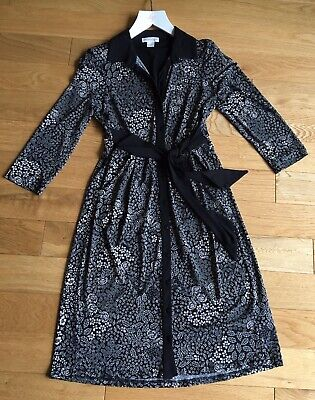 £10 • Buy Monsoon Shirt Dress Size 8 Black / Beige Dark Floral Immaculate Condition