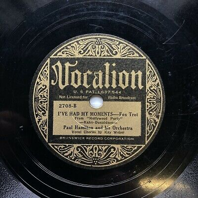 £9.99 • Buy Dorsey Brothers Orch + Kay Weber -  'i've Had My Moments' Gold Vocalion, Rare!