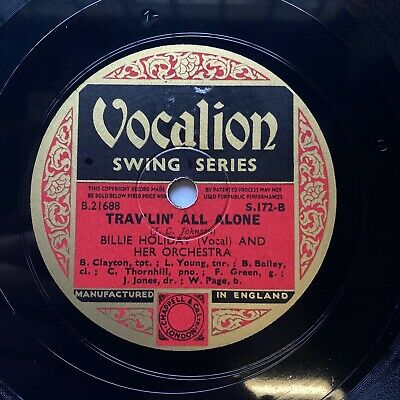 £9.99 • Buy Billie Holiday & Her Orch - 'trav'lin' All Alone' Vocalion S172, Lester Young!