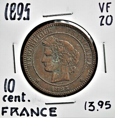 £8.13 • Buy 1895 France 10 Centimes