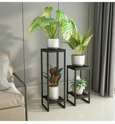 £19.99 • Buy Potted Plant Stand Tall Flower Pot Display Shelf For Balcony Living Room Garden