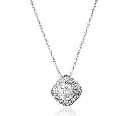 $3.95 • Buy Gorgeous Silver Necklace Pendant Women White Sapphire Wedding Jewerly Gift