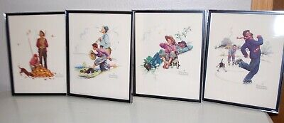 $ CDN12.17 • Buy Lot Of 4 Norman Rockwell Grandpa And Me Series Formcraft  3D Prints Framed