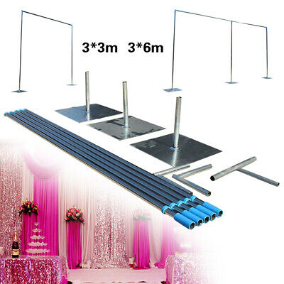 $117.05 • Buy Backdrop Stand Support Kit 3x3m/3x6m Background, Telescopic Heavy Duty Pipe USA