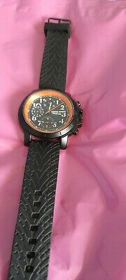 £13 • Buy Mens, Most Excellent, Black And Orange Watch. Black Dial With A Slice Of Peel!!