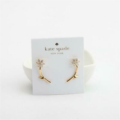 $ CDN38.98 • Buy Kate Spade New York Crystal Forget Me Not Front-and-Back Earrings Clear