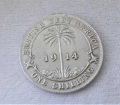 £0.99 • Buy Rare Silver 1914 British West Africa One Shilling Coin