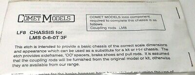 £5.99 • Buy Comet Models Lms 0-6-0t Class 3f Loco Chassis Kit