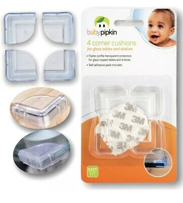 £3.29 • Buy Corner Cushions Child Baby Protector Guard Glass Table Shelves Edge Cover Four