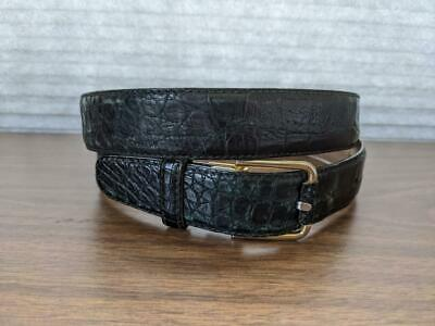 $68.95 • Buy Vintage BALLY Leather GENUINE CROCODILE Mens Belt 36 Brown Green ITALY MADE