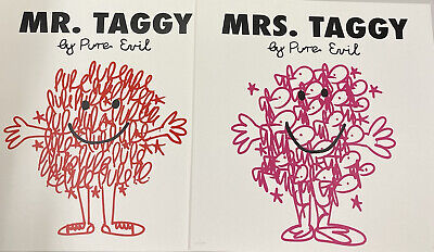£300 • Buy Pure Evil - MR TAGGY & MRS TAGGY - Signed And Numered Print