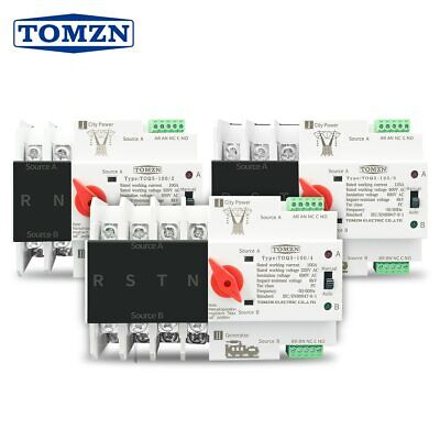 £26.61 • Buy Dual Power Automatic Transfer Switch Din Rail 2P 3P 4P ATS Electrical Selector