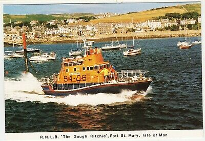 £1.85 • Buy LIFEBOAT THE GOUGH RITCHIE - Port St Mary - IOM - Mannin Postcard #TR2 - 1989
