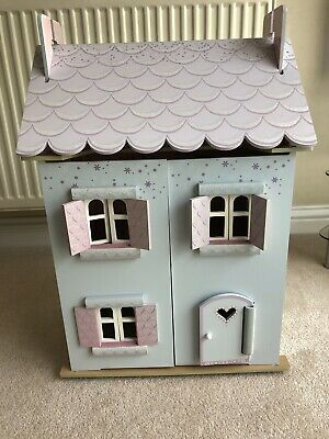 £45 • Buy ELC Wooden Dolls' House With Furniture And Dolls
