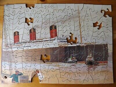 £18 • Buy Chad Valley Wooden Vintage Jigsaw Puzzle, Berengaria, Cunard Line, Pre WW2