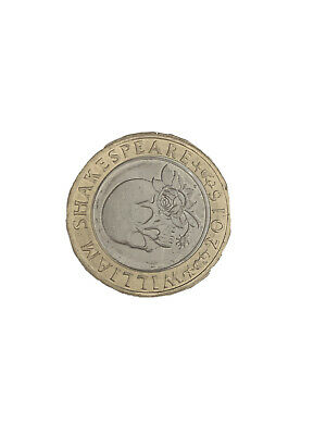 £5 • Buy William Shakespeare 2 Pound Coin Error 'FOR KING AND COUNTRY' Rare