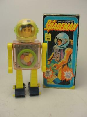 £100.89 • Buy 1960's HONG KONG PLASTIC BATTERY OP SPACE MAN ASTRONAUT SPACE TOY W/ BOX
