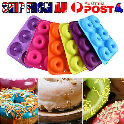 AU13.24 • Buy 1pc Silicone Donut Mold Muffin Chocolate Cake Cookie Doughnut Baking Mould Tray