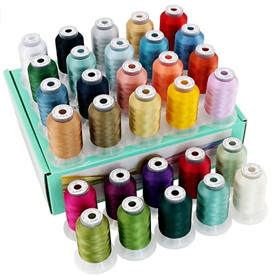 $27 • Buy Machine Embroidery Thread Sewing Polyester 30 Spools Lot Colors Each Brother New