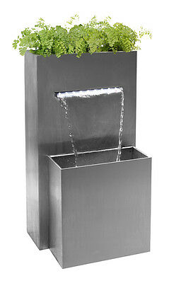 £307.99 • Buy Small Herb Planter Waterfall Water Feature With Lights Outdoor Garden Cascade