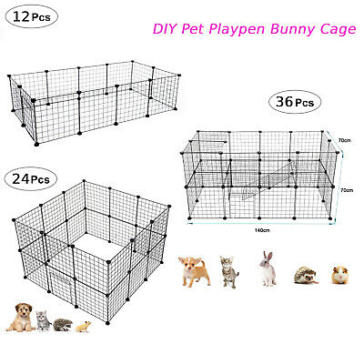 £27.99 • Buy Pet Playpen DIY Small Animal Cage Fence 24/36 Panels For Kitten Bunny Chinchilla