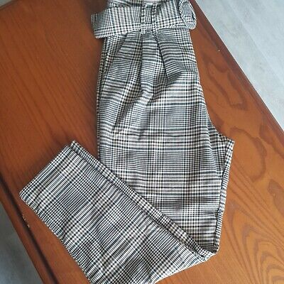 £2.70 • Buy Zara High Waisted Checked Trousers Size M