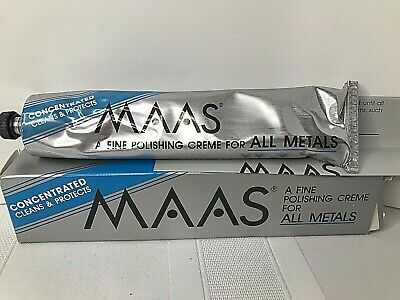 $29.99 • Buy Vtg Maas All Multi Purpose Metal Cleaner Protectant  4 Oz Rare Gold Silver