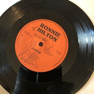 £5.50 • Buy Ronnie Hilton - Imagine (7 , Single) Signed Copy And Signed Card