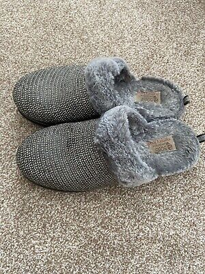 £0.99 • Buy Womens Grey Sparkly Skechers Slippers Bobs Size 5