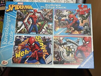 £2.50 • Buy  Marvel Spiderman Bumper Puzzle Pack 4 X 100 Ravensburger Quality Ages 5+