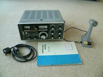 £102.01 • Buy Yaesu FT101 Ham Transceiver With Microphone, Mains Cable, And Manual