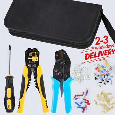 £19.98 • Buy PRO-Ratchet Crimper Plier Crimping Tool Cable Wire Electrical Terminals Kit Sets