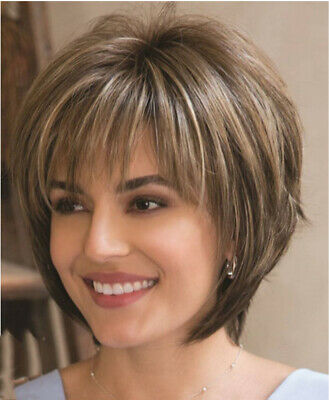 £11.99 • Buy Elegant Women Real Natural Short Straight Hair Wigs BOB Style Full Wig Synthetic