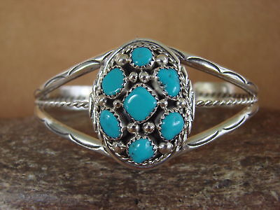 £114.63 • Buy Navajo Indian Jewelry Sterling Silver Turquoise Bracelet! Melvin Chee
