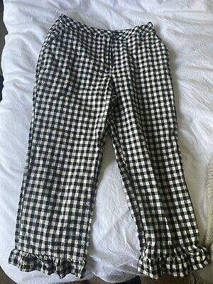 £2.52 • Buy Topshop Ladies Black And White Checked Trousers UK10