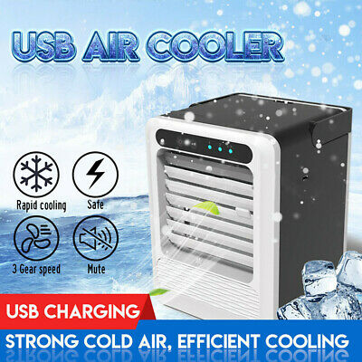AU54.92 • Buy Mini Air Conditioning Unit Cooling Fan Low Noise Cold Water Travel Home Cooler