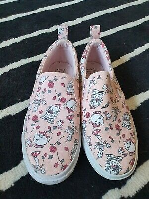 £2.90 • Buy Beauty And The Beast Slip On Shoes Size 4 Disney