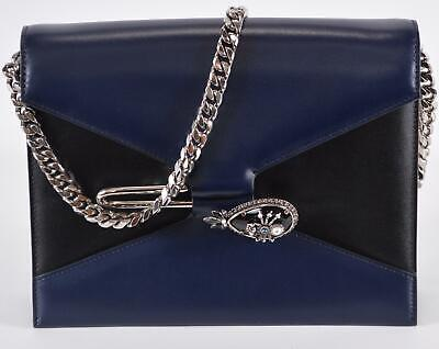 AU1084.92 • Buy New Alexander McQueen $2,980 Colorblock Leather Jewel Spider Pin Purse Bag