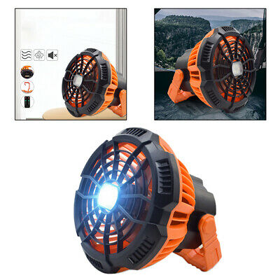 AU35.64 • Buy Portable Cooling Camping Fan With LED Lamp Tent Fan USB Quiet Rechargeable