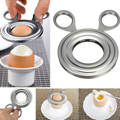 £2.59 • Buy Boiled Egg Shell Cutter Topper Opener Stainless Steel Kitchen Tool Craft New
