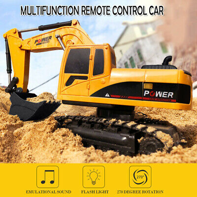 £9.99 • Buy 5CH RC Excavator Crawler Remote Control Digger Truck Toy Car Gift Kid Digger UK